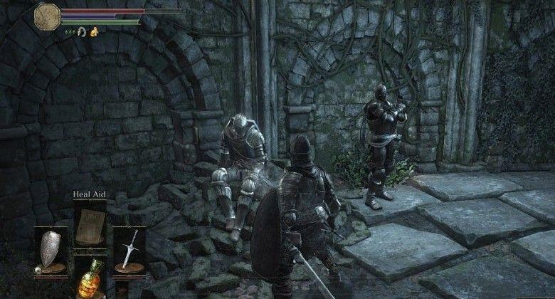 dark souls где найти лук в начале игры
